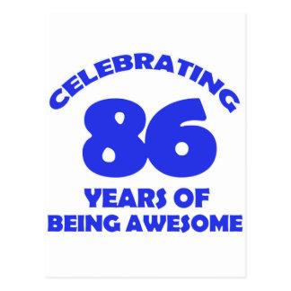 86TH birthday  designs Postcard