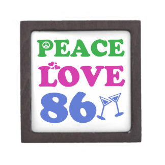 86th birthday designs premium trinket box