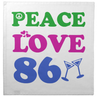 86th birthday designs printed napkins