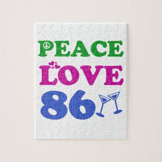 86th birthday designs puzzle