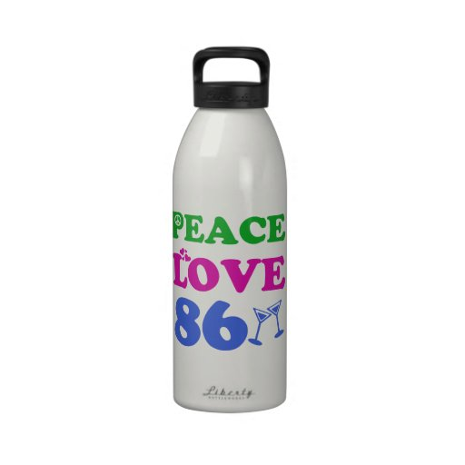 86th birthday designs reusable water bottle