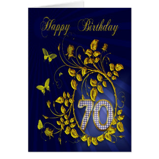 86th Birthday golden butterflies Greeting Card