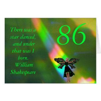 86th Birthday Greeting Card