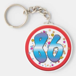 86th Birthday Keychains