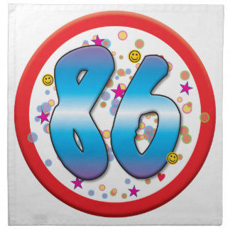 86th Birthday Napkin