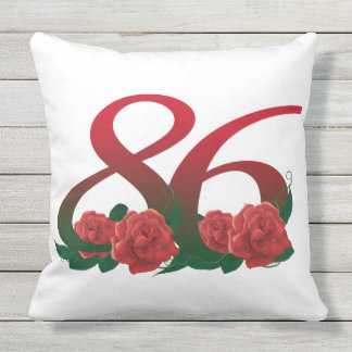 "86th birthday Outdoor Throw Pillow 20"" x 20"""