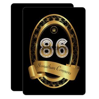 86th,birthday party woman man,elegant color card