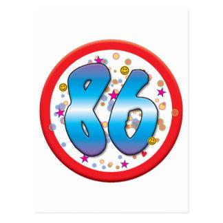 86th Birthday Postcard