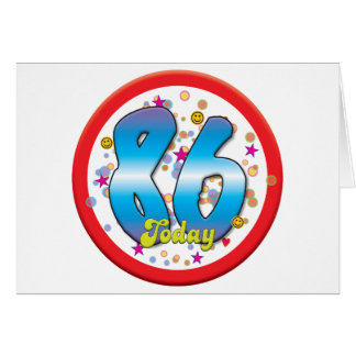 86th Birthday Today Card