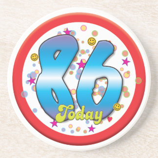 86th Birthday Today Drink Coasters