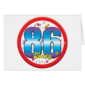 86th Birthday Today v2 Greeting Card