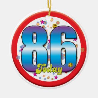 86th Birthday Today v2 Christmas Tree Ornaments