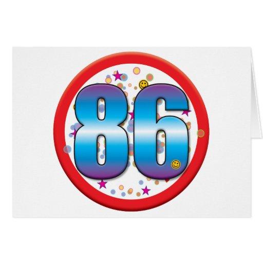 86th Birthday v2 Greeting Cards