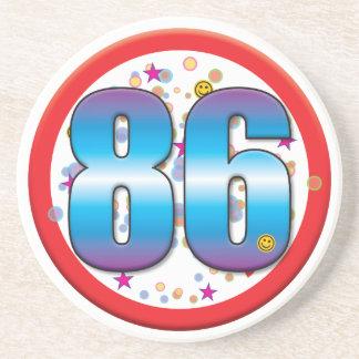 86th Birthday v2 Drink Coasters