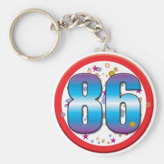 86th Birthday v2 Key Chains