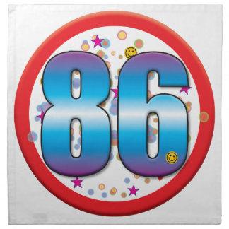 86th Birthday v2 Printed Napkin