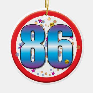 86th Birthday v2 Christmas Ornaments