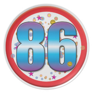 86th Birthday v2 Party Plates
