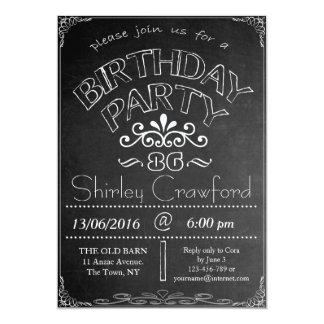 86th Chalkboard Birthday Celebration Invitation