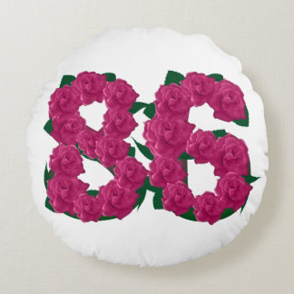 "86th Wedding Anniversary Round Throw Pillow (16"")"