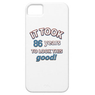 86th year birthday designs iPhone 5 cases
