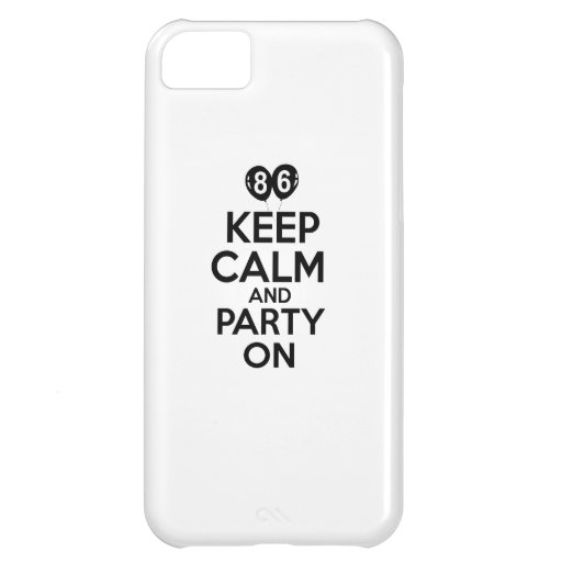 86th year birthday designs iPhone 5C covers