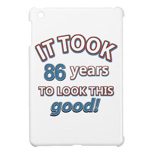 86th year birthday designs iPad mini covers