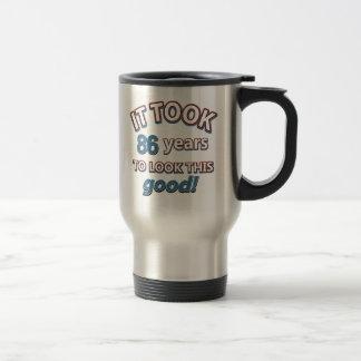 86th year birthday designs coffee mugs