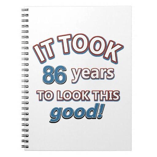 86th year birthday designs journal