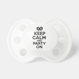 86th year birthday designs baby pacifiers