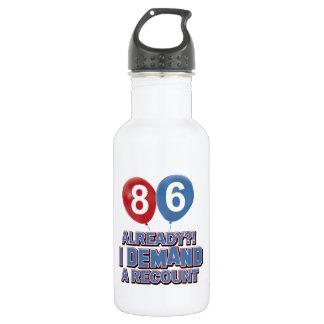 86th year birthday designs 18oz water bottle