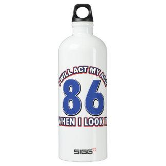 86th year birthday designs SIGG traveler 1.0L water bottle