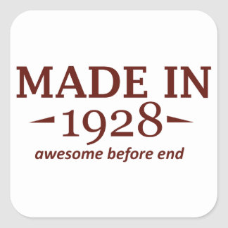 86th year birthday designs square sticker