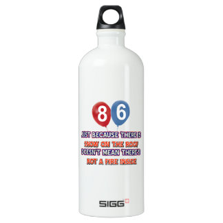 86th year old snow on the roof birthday designs SIGG traveler 1.0L water bottle