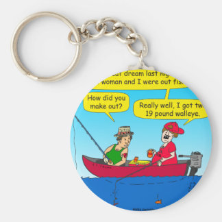 870 how did you make out fishing cartoon basic round button keychain