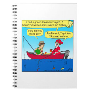 870 how did you make out fishing cartoon notebook