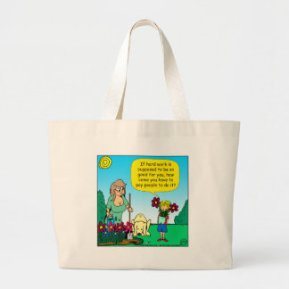 871 hard work is good for you cartoon large tote bag