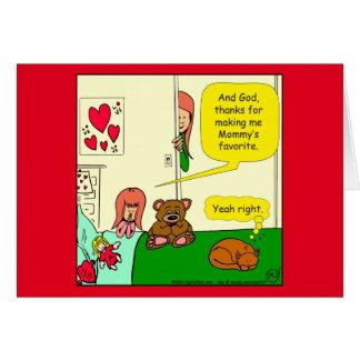 874 Mom's favorite child cartoon Card