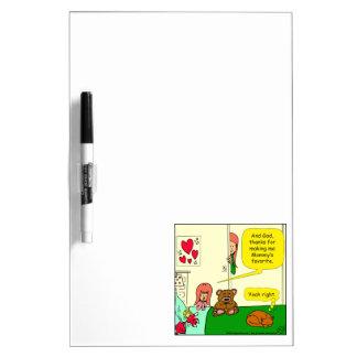 874 Mom's favorite child cartoon Dry Erase Board