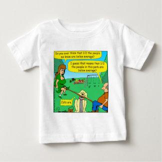 876 Half below average couple cartoon Baby T-Shirt