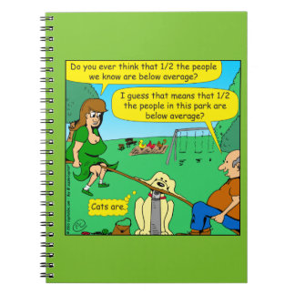 876 Half below average couple cartoon Notebooks