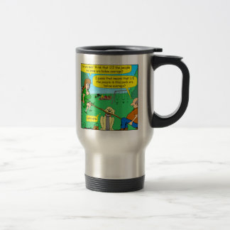 876 Half below average couple cartoon Travel Mug