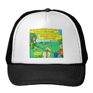 876 Half below average couple cartoon Trucker Hat