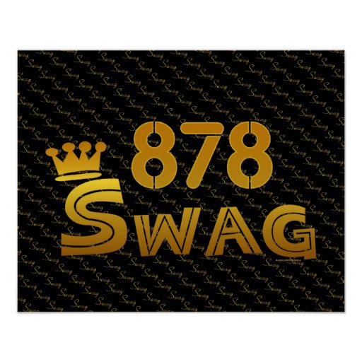 878 Area Code Swag Posters