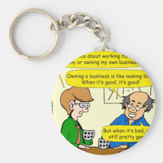 879 Own your own business cartoon Basic Round Button Keychain