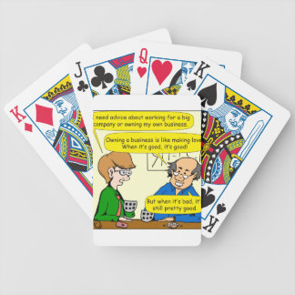 879 Own your own business cartoon Bicycle Playing Cards