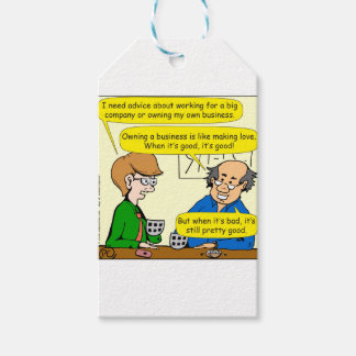 879 Own your own business cartoon Pack Of Gift Tags