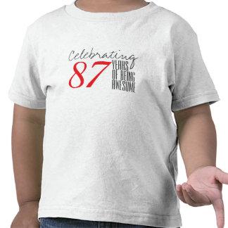 87 ans d'être impressionnant t-shirts