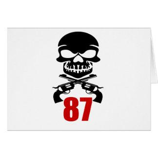 87 Birthday Designs Card