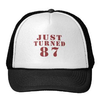87 Just Turned Birthday Trucker Hat